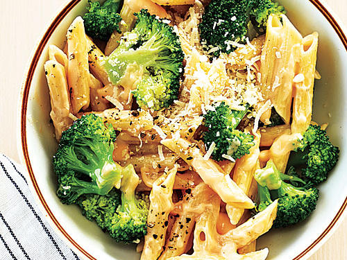Any short pasta can be substituted here—rotini and farfalle are good choices.