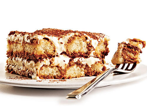 Chances are good that you've had a moment with the fully loaded version of this elegant, espresso-soaked sponge cake dessert, which is enveloped in rich layers of buttery mascarpone and sweetened whipped cream. And if you haven't, well, we suggest you do... by trying our made-over version.Classic 577 calories per serving42 grams total fat23 grams saturated fatMakeover234 calories per serving10.6 grams total fat5.2 grams saturated fat