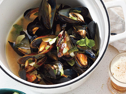 All mussels are sustainable stars. They're surprisingly affordable, too.Mussels in Smoky Poblano-Cilantro BrothGreen Salad with Simple VinaigretteGoat Cheese CrostiniView Menu: Mussels in Smoky Poblano-Cilantro Broth Menu