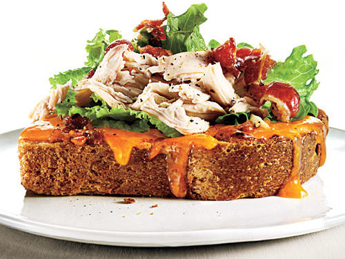 View Menu: Open-Faced Apricot-Chipotle Chicken Club Menu