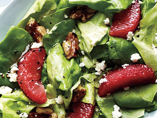 Grapefruit, Walnut, and Feta Salad
