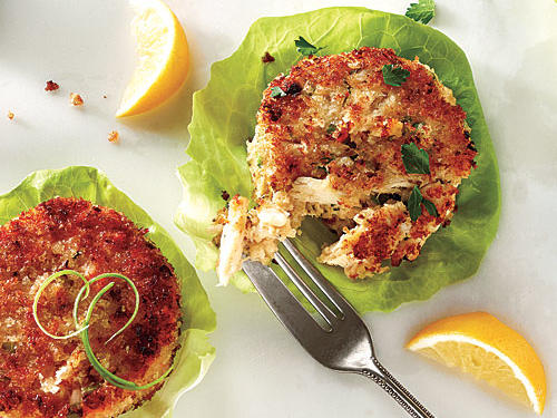 Crab cakes aren't a way to hide bland or watery crab. In the best cakes, the sweet, clean flavor of the seafood shines.