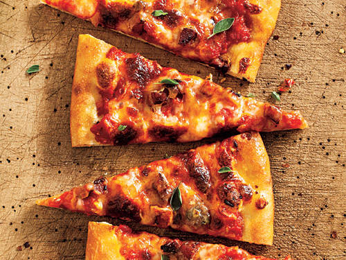 Quick, simple, delicious, this pizza will satisfy your weeknight hunger. Serve with a fresh salad for a complete meal.