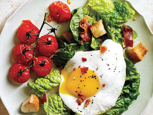 View Menu: BLT Salad with Eggs Sunny Side Up Menu