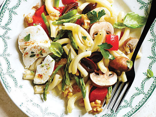View Menu: Vegetable Pasta Salad with Goat Cheese Menu