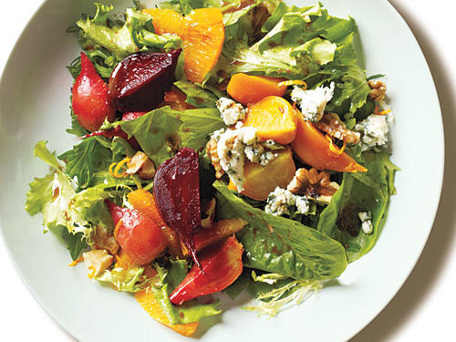 If blood oranges aren't available, substitute 3 large navel oranges to retain the same fresh flavor in this spring salad.
