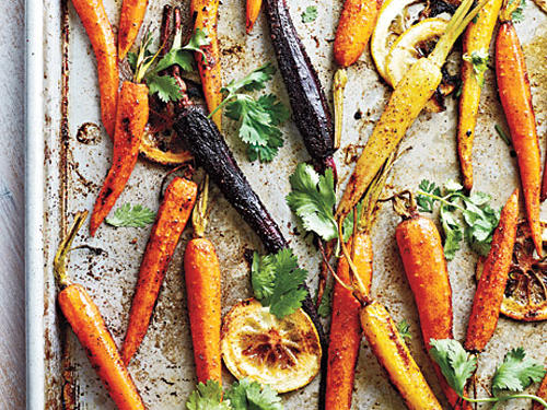 Warm spices like cumin and cinnamon play deliciously off the sweetness of the carrots.