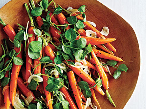 Newfangled Peas and Carrots recipe