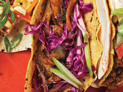 Beer-Braised Chicken Tacos with Cabbage Slaw recipe