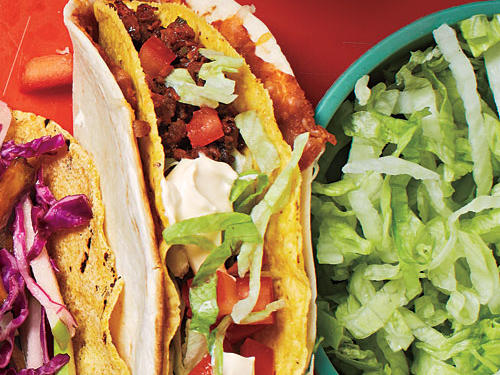 Double-Layer Beef Tacos Cooking Light Diet