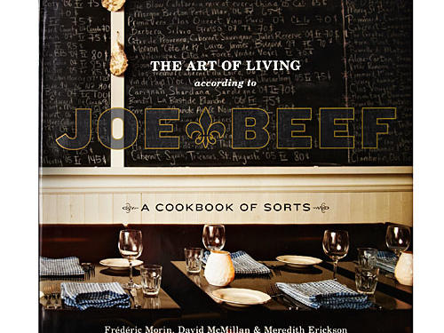 "The Art of Living According to Joe Beef: A Cookbook of Sorts  By Frédéric Morin, David McMillan, and Meredith Erickson, Ten Speed Press, 2011. Hardcover. $40; 292 pagesIn recent years a new breed of aggressively casual chefs has come forward to write a new sort of authoritative, opinionated, humorous, always irreverent cookbook—Anthony Bourdain is their god or mascot. More than one of them comes from Quebec. This is a leading example. Health is never part of the equation; sheer extravagant gusto is. Egg yolks ooze, meat fills the plate, and rich sauces proliferate. But there's an inherent honesty to the uniquely Montreal interpretations of French bistro cuisine cooked up by owners-chefs Morin and McMillan at Joe Beef. Lamb Shoulder for Two, Condimint (they love puns) brings together a springy lamb stew with fresh peas and mint, all with a sweet-sour sauce built from dates and cider vinegar and a pronounced horseradish bite. We swooned. Lentils Like Baked Beans, according to the authors, ""has a bit of a Quebecois-lumberjack-in-Bollywood taste."" Uh, sure—and it's a perfect example of how brilliant chefs can take a dish you've had countless times and make it something new and exciting.The book is wacky, good fun. One chapter is devoted to train travel and train-inspired recipes (like the lentils mentioned above). The authors warn the home cook against deep-frying without a proper fryer, especially if ""drunk and/or naked."" A recipe for mashed potatoes instructs the cook to ""rectify the seasoning."" A cocktail right out of Mordecai Richler, called Gin 'N' Jews, marries Manischewitz with gin, egg white, and lemon juice. For all the bawd and bombast, this is a heartwarming success story of two chefs who unflinchingly stick to their unique vision. GIVE THIS TO: Cutting-edge cooks who enjoy a taste of braggadocio. —Robin Bashinsky"