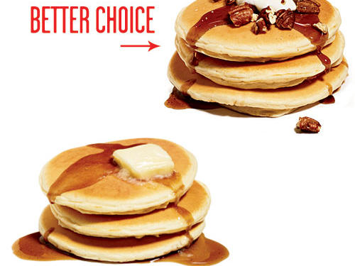 Instead of Butter & Syrup, Top Pancakes with Pecans & Yogurt