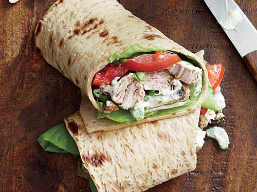 If you can't find lavash, try lower-sodium flatbreads or sandwich wraps.