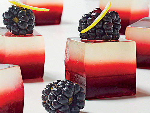 Lemony Blackberry-Vodka Gelées