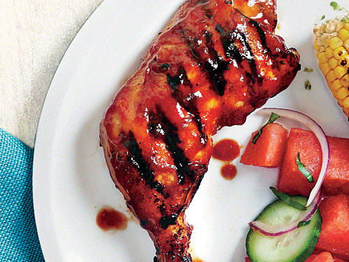 Grilled Chicken with Honey-Chipotle BBQ Sauce