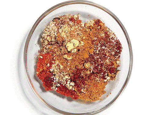 Combine 1 teaspoon Hungarian sweet paprika, ½ teaspoon ground cumin, ½ teaspoon ground cinnamon, ¼ teaspoon salt, ¼ teaspoon ground ginger, ¼ teaspoon ground red pepper, and ¼ teaspoon freshly ground black pepper.SERVES: 4 (serving size: ¾ teaspoon)CALORIES 5 FAT 0.2g (sat 0.2g) SODIUM 148mg