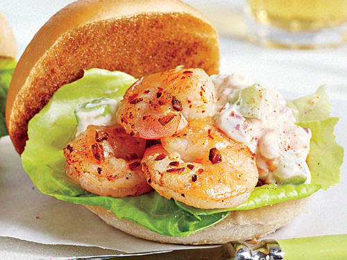 Spicy Shrimp Sliders with Celery Mayonnaise