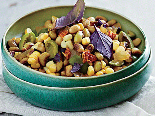 Field Pea and Purple Basil Succotash