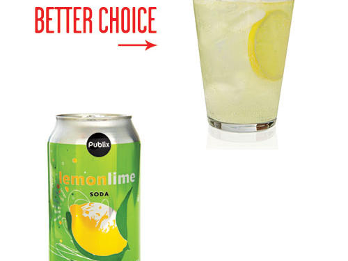 Liquid calories are part of the snack budget, too. A 12-ounce can of soda contains 36g sugar—nearly 3 tablespoons. Instead, mix 4 ounces lemonade with 8 ounces sparkling water. Garnish with a lemon slice.
