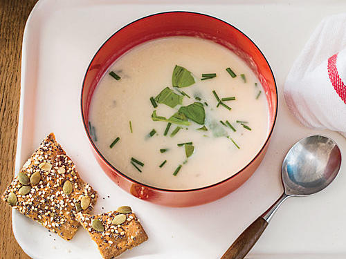Herbed Parmesan Potato Soup