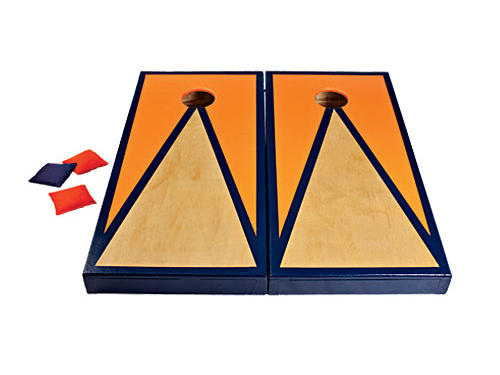 We rounded up our favorite game-day gear to help you and your tailgate be ready by kick-off time.First, a customized Corn Toss Set.Heat up the rivalry with some good-natured corn toss competition (from $148, customcorntoss.com).