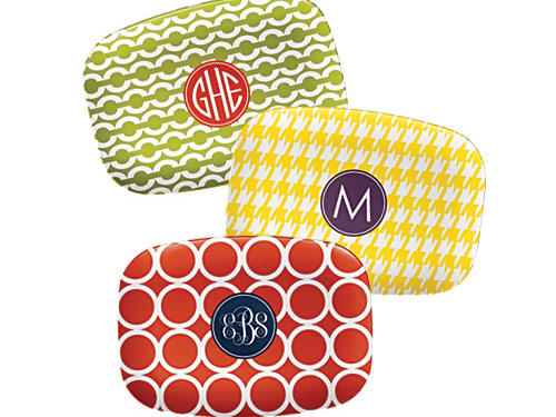 Monogrammed, melamine, and available in countless combos ($42, laylagrayce.com)
