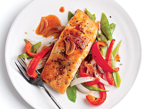 Quick Broiled Salmon with Vegetables