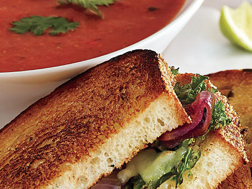 Pair this spicy tomato soup with your favorite grilled cheese sandwich for a warm and filling weeknight dinner.