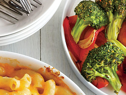 Roasted Broccoli and Red Bell Pepper