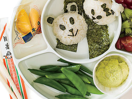 Try these fun rice balls for an engaging and nutritious lunchbox main course.