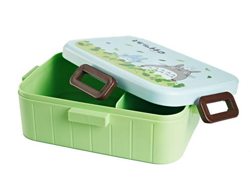 The lovable Totoro makes a fantastic lunchtime companion on this sturdy blue and green container from Bento & Co. ($17). Four clips ensure a tight seal, and a removable divider keeps your food separated. The Totoro Bento Box pictured here is the 900 ml version, but it is also available in 650 and 1200 ml ($15 and $18, respectively).Microwave-safeDishwasher-safe (without lid, as artwork will fade)BPA free