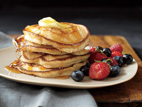 Whole-Wheat, Buttermilk, and Orange Pancakes