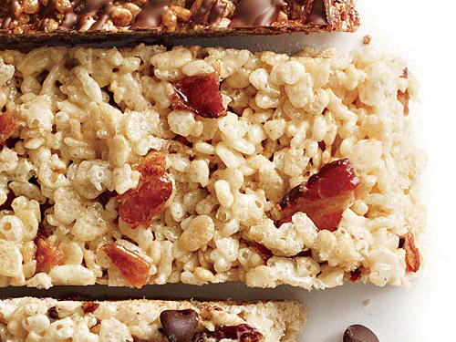 Maple Bacon Chewy Crispy Bars