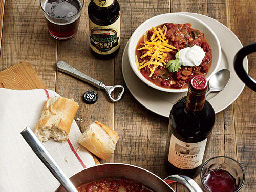 What to Drink with Classic Chili