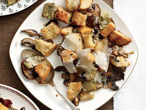 Make your stuffing stand out from the bunch. Mushrooms lend an almost meaty texture to this holiday side dish.