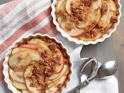 You can also peel and coarsely chop the apples, if you prefer. For more tender apples, decrease the heat to 400° and bake 5 to 10 minutes longer.