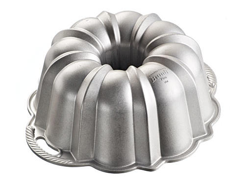 Few things reflect timeless elegance like a shapely bundt cake. With an updated platinum nonstick finish, Nordic Ware's Anniversary Bundt Pan guarantees that your entire cake will make it to the serving plate. $33.95 each, crateandbarrel.com.