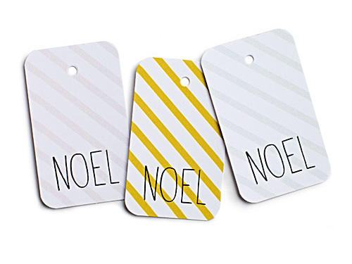 Noel Striped Gift Tags