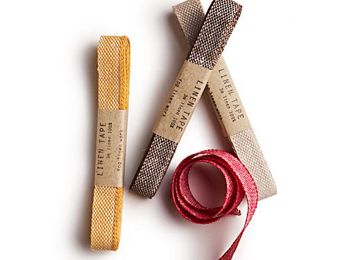 Offered in a six-pack of varying colors, this hearty chambray linen tape can be used as a trendy ribbon to polish off your presents. $26 per pack, shop-foglinen.com.