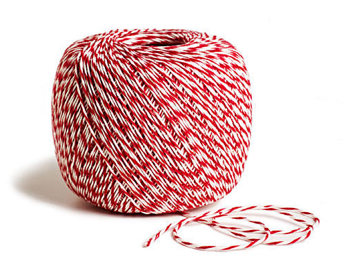 A great way to tie in even more holiday spirit, this candy-striped baker's twine looks sweet enough to eat! $7.95 per roll, paper-source.com.