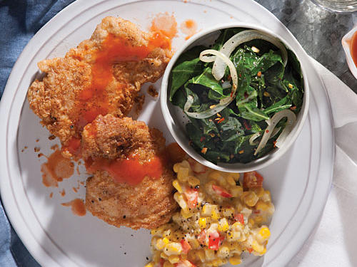 Savory Pan-Fried Chicken with Hot Sauce