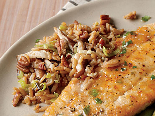 Toasted pecans bring a nutty and sweet crunch to this rice pilaf.