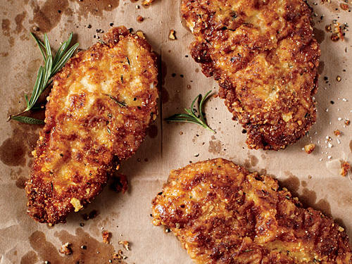 Parmesan and Pine Nut-Crusted Oven-Fried Chicken