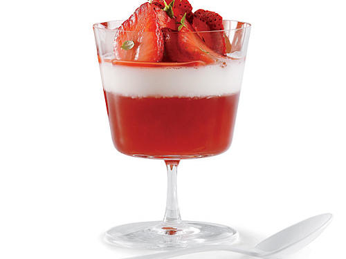This sweet, creamy treat is a festive, elegant showcase for everyone's favorite spring fruit: ripe, juicy strawberries, served up two ways — sliced and macerated and cooked into a ruby-red jelly.
