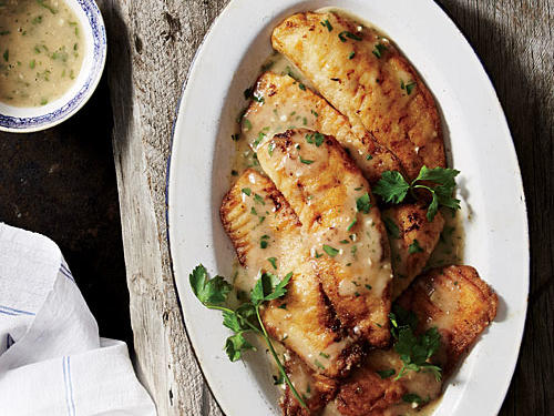 Tilapia with Lemon-Garlic Sauce