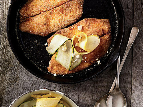 You just can't beat a crisp breaded fish fillet. This one, with its cornmeal crust, is reminiscent of Southern-fried catfish (but with a sweeter fish at the center).