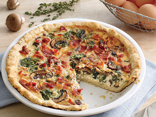 Recipe Makeover: Spinach-Bacon Quiche