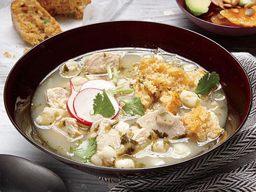 Chicken Posole and Corn Bread Muffins