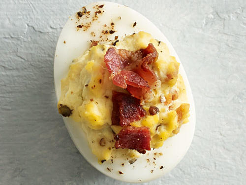Bacon and Blue Cheese Deviled Eggs