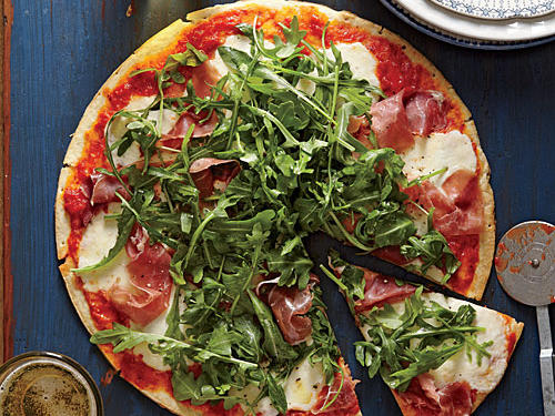 We love the thin crust of this pizza, which cooks up fast and as crisp as a cracker.